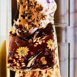 Brand New PRADA printed Brown Nylon Bag
